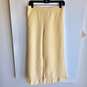 bryn Walker Jackets & Coats - Bryn Walker Yellow Side Tie Jacket Crop Pants Sz S